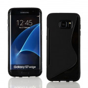 S-Line Cover Case - силиконов (TPU) калъф за Samsung Galaxy S7 Edge (черен)