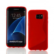 S-Line Cover Case - силиконов (TPU) калъф за Samsung Galaxy S7 Edge (червен)