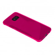 S-Line Cover Case - силиконов (TPU) калъф за Samsung Galaxy S7 Edge (розов) 1