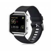Fitbit Blaze Large Size - умен фитнес часовник с известия и следене на дневната и нощна активност на организма за iOS, Android и Windows Phone (черен) 2