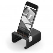 Elago M3 Stand - поставка от алуминий и дърво за iPhone и iPad mini (черна)
