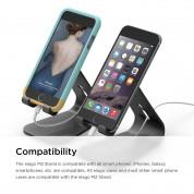 Elago M2 Stand - алуминиева поставка за iPhone 6/6S, 6 Plus/6S Plus, iPhone SE/5/5S/5C и мобилни телефони (черна) 5