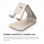 Elago M2 Stand - алуминиева поставка за iPhone 6/6S, 6 Plus/6S Plus, iPhone SE/5/5S/5C и мобилни телефони (златиста) 3