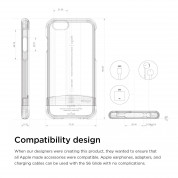 Elago S6 Glide Frosted Case - слайдър кейс и защитни покрития за дисплея и задната част за iPhone 6 (розов-прозрачен) 5