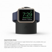 Elago W2 Watch Stand - силиконова поставка за Apple Watch (черна) 2