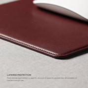 Elago Leather Mouse Pad - дизайнерски кожен пад за мишка (бургунди) 4