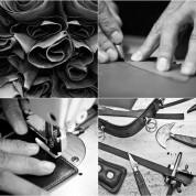 Elago Leather Mouse Pad - дизайнерски кожен пад за мишка (тъмносив) 8