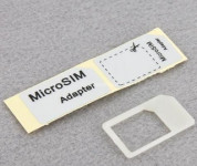 Micro SIM Card Adapter Socket Holder for iPad and iPhone 4G (white) 1