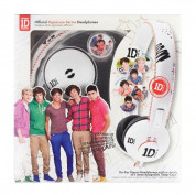 Jivo One Direction SnapCaps On-Ear Leather Band Headphones - слушалки за мобилни устройства (бели) 1