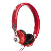 Jivo One Direction SnapCaps On-Ear Leather Band Headphones - слушалки за мобилни устройства (червени)