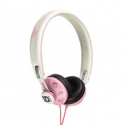 Jivo One Direction SnapCaps On-Ear Leather Band Headphones - слушалки за мобилни устройства (розови)