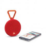 JBL Clip 2 - водоустойчив безжичен портативен спийкър (с карабинер) с микрофон за мобилни устройства (червен) 1