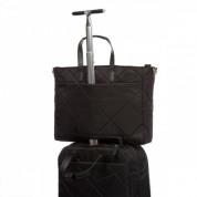 Knomo Howley 15 Grab Tote - луксозна дамска чанта за преносими компютри до 15 инча (черна) 1