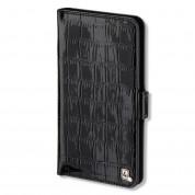 4smarts Ultimag Wallet Laneway Croco Case - универсален кожен калъф с магнитно захващане за смартфони до 5.8 инча (черен)