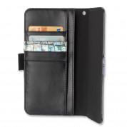 4smarts Ultimag Book Norwalk Croco Case - универсален кожен калъф с магнитно захващане за смартфони до 5.2 инча (черен-шарен) 1