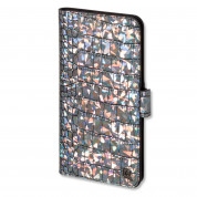 4smarts Ultimag Book Norwalk Croco Case - универсален кожен калъф с магнитно захващане за смартфони до 5.2 инча (черен-шарен)