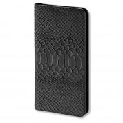 4smarts Ultimag Wallet Westport Reptile Case - универсален кожен калъф с магнитно захващане за смартфони до 5.2 инча (черен)