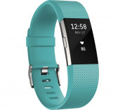 Fitbit Charge 2 Teal Silver - Small Size Wireless Activity and Sleep for iOS and Android