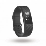 Fitbit Charge 2 Black Gunmetal Large Size Wireless Activity and Sleep for iOS and Android