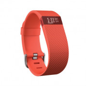 Fitbit Charge HR Large Tangerine Size Wireless Activity and Sleep for iOS and Android