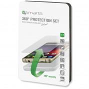 4smarts 360° Protection Set - тънък силиконов кейс и стъклено защитно покритие за дисплея на Samsung Galaxy A7 (2016) (прозрачен) 3