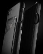 Mujjo Leather Wallet Case - кожен (естествена кожа) кейс с джоб за кредитна карта за iPhone 8, iPhone 7 (черен) 5