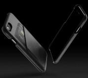 Mujjo Leather Wallet Case - кожен (естествена кожа) кейс с джоб за кредитна карта за iPhone 8, iPhone 7 (черен) 6
