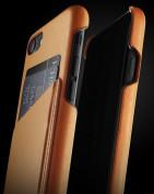 Mujjo Leather Wallet Case - кожен (естествена кожа) кейс с джоб за кредитна карта за iPhone 8, iPhone 7 (кафяв) 4