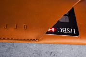 Mujjo Leather Wallet Sleeve - кожен (естествена кожа) калъф с джоб за кредитна карта за iPhone 8, iPhone 7 (кафяв) 10
