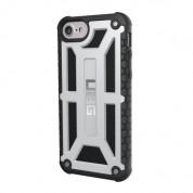 Urban Armor Gear Monarch Platinum - удароустойчив хибриден кейс за iPhone 8, iPhone 7, iPhone 6S, iPhone 6 (сребрист-черен)