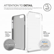 Elago S7 Slim Fit 2 Case + HD Clear Film - поликарбонатов кейс и HD покритие за iPhone 7, iPhone 8 (прозрачен) 4