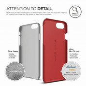 Elago S7 Slim Fit 2 Case + HD Clear Film - поликарбонатов кейс и HD покритие за iPhone 8, iPhone 7 (червен) 2