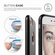 Elago S7 Slim Fit Soft Case + HD Clear Film - case and screen film for iPhone 8, iPhone 7 (black) 6