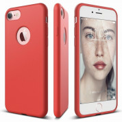 Elago S7 Slim Fit Soft Case + HD Clear Film - case and screen film for iPhone 8, iPhone 7 (red)