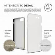 Elago Inner Core Case - тънък полипропиленов кейс (0.3 mm) и HD покритие за iPhone 8, iPhone 7 (бял) 4