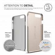 Elago S7 Slim Fit 2 Case + HD Clear Film - поликарбонатов кейс и HD покритие за iPhone 8 Plus, iPhone 7 Plus (златист) 5
