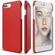 Elago S7 Slim Fit 2 Case + HD Clear Film - поликарбонатов кейс и HD покритие за iPhone 8 Plus, iPhone 7 Plus (червен)