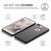 Elago S7 Slim Fit Soft Case + HD Clear Film - тънък силиконов калъф и HD покритие за iPhone 8 Plus, iPhone 7 Plus (черен-мат) 3