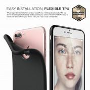 Elago S7 Slim Fit Soft Case + HD Clear Film - тънък силиконов калъф и HD покритие за iPhone 8 Plus, iPhone 7 Plus (черен-мат) 5