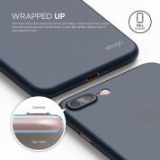 Elago Inner Core Case - тънък полипропиленов кейс (0.4 mm) и HD покритие за iPhone 8 Plus, iPhone 7 Plus (тъмносин) 3