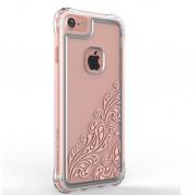 Ballistic Jewel Essence Case - хибриден удароустойчив кейс за iPhone 8, iPhone 7 (прозрачен с розови мотиви)