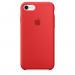 Apple Silicone Case - оригинален силиконов кейс за iPhone 8, iPhone 7 (червен) 1