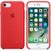 Apple Silicone Case - оригинален силиконов кейс за iPhone 8, iPhone 7 (червен) 4