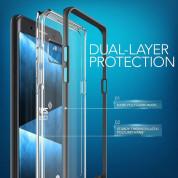 Verus Crystal Bumper Case - хибриден удароустойчив кейс за Samsung Galaxy Note 7 (черен-прозрачен) 3