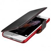 Verus Dandy Layered Case - кожен калъф, тип портфейл за iPhone 8, iPhone 7 (черен) 1