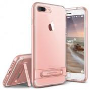 Verus Crystal Bumper Case - хибриден удароустойчив кейс за iPhone 8 Plus, iPhone 7 Plus (розов-прозрачен)