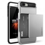 Verus Damda Glide Case - висок клас хибриден удароустойчив кейс с място за кр. карти за iPhone 8 Plus, iPhone 7 Plus (сребрист)