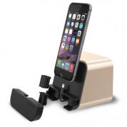 Verus i-Depot Cradle - универсална док станция за iPhone, iPad и мобилни устройства с microUSB (златиста)
