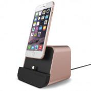 Verus i-Depot Cradle - универсална док станция за iPhone, iPad и мобилни устройства с microUSB (розово злато) 2