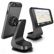 Verus Magnetic Grab - универсална поставка за гладки повърхности за iPhone, Samsung и смартфони до 6.3 инча (тъмносив)
